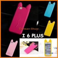DW69 KOKO CAT KOREA Cute Ear Cat soft silicone Case - IPhone 6 6S PLUS