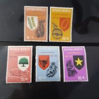Perangko/Prangko Indonesia seri Pancasila. Tahun terbit 1965