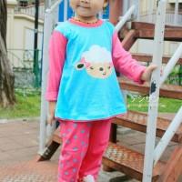 Dessan Piyama Anak Perempuan Animal Face Sheep Girl