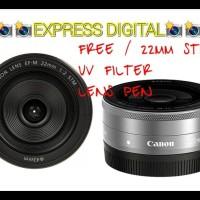 Murah Lensa Canon Ef-M 22Mm Stm Black Dan Silver Garansi 1Tahun