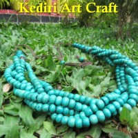 Harga kalung etnik jember tulang sapi model rantai warna toska | Pembandingharga.com