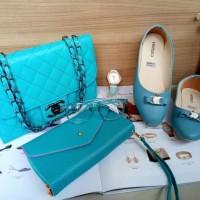 tas wanita tas terbaru 2018 tas selempang chanel key dompet flatshoe