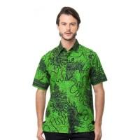 BAJU KEMEJA Baju Kemeja Batik Cirebon Pria Lengan Pendek Bahan Katun