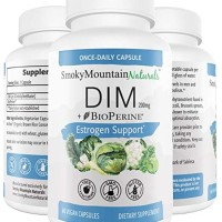 DIM Supplement 200mg BioPerine, Estrogen Balance, Cystic Acne, PCOS