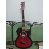 Gitar Akustik Yamaha Sunburst Buat Pemula Murah Jakarta Bonus Softcase