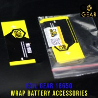 Coil Gear PVC 18650 Wrap Battery Accessories Wrapping Baterai Batre