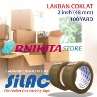 Lakban SILAC Original Packaging Tape DUS - 2 inch - 48mm - 100 yard