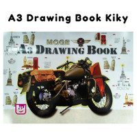 Buku gambar A3 / A3 Drawing book merek Kiky / Drawing Book Kiky A3