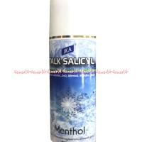 Ika Salicyl Powder Menthol Biru Bedak Salicil Bedak Tabur Talek 80gr