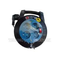 Kabel Rol/Kabel roll/Kabel Gulung 4 Lubang 10 meter+Stop Kontak Vetto