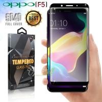 Tempered Glass Oppo F5 3D Full Cover Black -  Premium Glass Pro