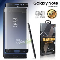 Tempered Glass SAMSUNG Galaxy Note FE Black 3D Full Cover - Glass Pro