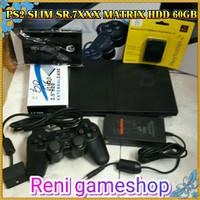 PS2 SLIM seri.7 hdd 60gb full game kumplit