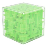 3D Maze Labyrinth Speed Puzzle Cube - Green