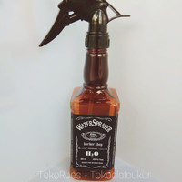 Botol Spray Coklat Barbershop