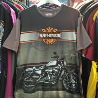 Harley Davidson Size XL-Jumbo Kaos-Baju Distro Fullprint 3D Motor Gede
