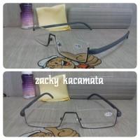 Harga kacamata baca frem warna abu abu | antitipu.com