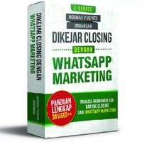 Dikejar Closing dengan Whatsapp Marketing LENGKAP 30 VIDEO