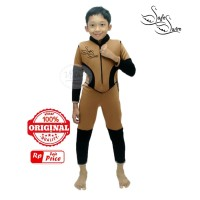 Baju Renang Mengapung Safeswim Lengan Panjang Milo Hitam