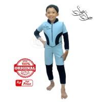 Baju Renang Mengapung Safeswim Lengan Panjang Biru Laut Navy