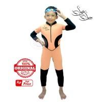 Baju Renang Mengapung Safeswim Lengan Panjang Peach Hitam