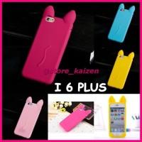 KZ158 KOKO CAT KOREA Cute Ear Cat soft silicone Case-IPhone 6 6S PLUS