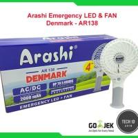 Arashi Emergency LED & FAN Denmark - AR138 kipas Angin+Lampu darurat