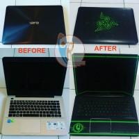 jual Original Garskin Laptop Full Body Asus A455L Motif Razer - Free