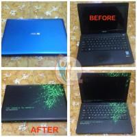 jual Original Garskin Laptop Full Body ASUS X200M Motif Razer - Free