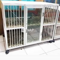 Kandang Kucing/Anjing/Hewan Lainnya Aluminium 2 Kamar 2 Lantai