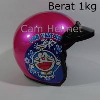 Helm Bogo Doraemon happy Pink + pet