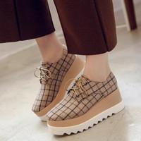 sepatu wedges wanita sw022 coklat