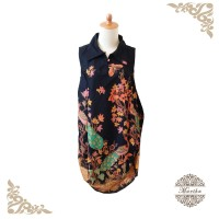 Dress batik bawah model balon