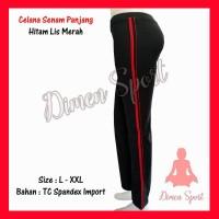 Celana Senam Hitam List | Olahraga | Gym | Fitnes | Dimen Shop