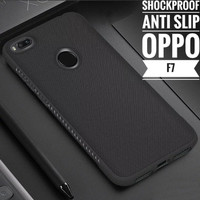 Softcase TPU Shockproof Black Matte Slim Cover Case Casing HP Oppo F7