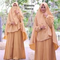Gamis Syari Hanum Mocca plus Niqab/Cadar
