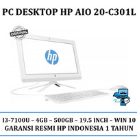 PC Desktop HP AIO 20-C301L (CORE I3, 4GB, 500GB, 19.5 INCH, WIN10)