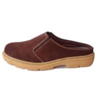 Sepatu Sandal Selop Bustong Kulit Asli Pria Cowok Coklat Ukuran Besar
