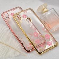 Softcase TPU Flower Case Casing Cover Back Bunga Transparan HP Vivo V9