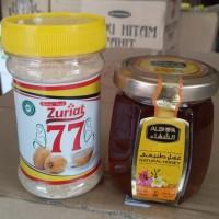 Bubuk buah Zuriat 100gr + madu alshifa 125 gram (promil)