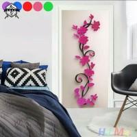 Wall sticker / wall stiker 3d bunga
