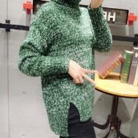 New Coat Jaket Mantel winter Wanita Creamy rajut tebal hangat