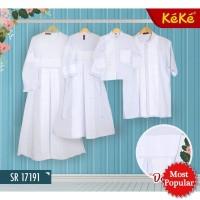(size 6 - 12) Baju Koko dan Gamis Anak KeKe Putih Idul Adha Sarimbit