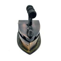 jual Miniatur Setrika Arang Kuningan 10x9x6.5cm - Coklat + Gratis