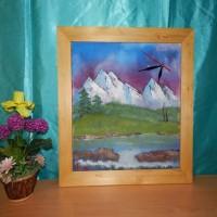 Jam dinding / jam dinding lukisan asli / lukisan asli