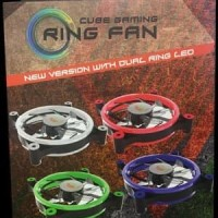 CUBE GAMING DOUBLE RING FAN V2.0 12CM 1300RPM RED LED Limited
