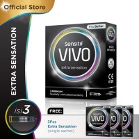 Kondom Sensitif VIVO Extra Sensation