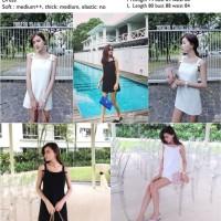 24166 - Black,White Bow Sling (M,L) (sale) - Dress