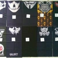 Jual buff masker bandana motif tengkorak all varian