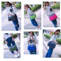 TS51 Active Model Nylon Women Shoulder bag / Tas Selempang - Apple Green